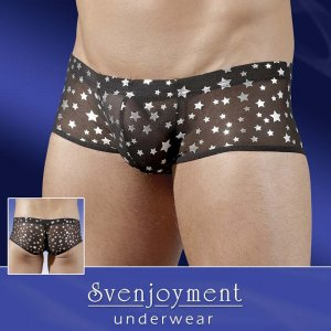 Svenjoyment Star Powernet Boxer Brief Underwear Black/Silver 2130335