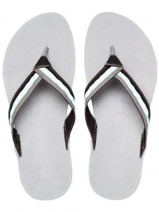 Boombuz Taiga Half Dressed Flip Flop Slippers Grey/Black