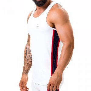 Jor Gladiator Tank Top T Shirt White 0374