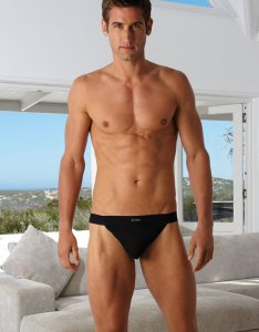 Kiniki Guy Stretch Cotton Sports String Thong Underwear Black GY