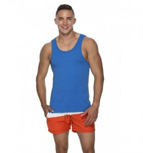 Marcuse Hyper Tank Top T Shirt Blue