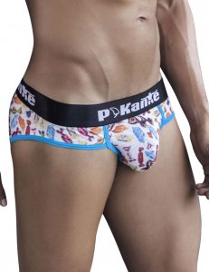 Pikante Trick Or Treat Brief Underwear Blue 8676
