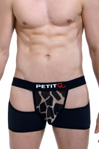 Petit-Q Valousa Cut Out Giraffe Boxer Brief Underwear Black PQ171002