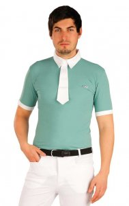 Litex Equestrian Riding Polo Racing Short Sleeved Shirt Oliv...