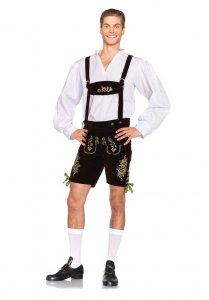 Leg Avenue Oktoberfest Lederhosen Costume Brown/Green 85476