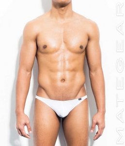 Mategear Young Ja Black Air Nylon Very Sexy Nano Thong Underwear White 401104