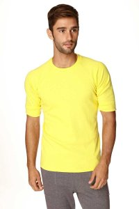 4-rth Hybrid Raglan Short Sleeved T Shirt Yellow