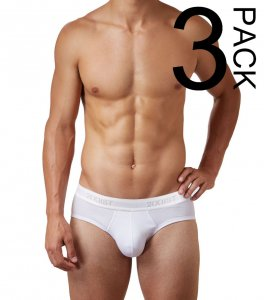 2(x)ist [3 Pack] Cotton Contour Pouch Brief Underwear White ...