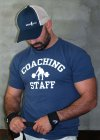 Ajaxx63 Coaching Staff Athletic Fit Short Sleeved T Shirt Faded Navy AS83