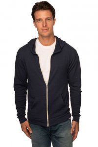 Royal Apparel Unisex Eco Tri Jersey Full Zip Hoody Long Sleeved Sweater Eco Tri Black 32550