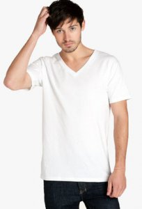 AS Colour Tarmac V Neck Short Sleeved T Shirt 5003