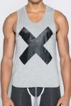 2EROS X Series Tank Top T Shirt Grey Marle TX16