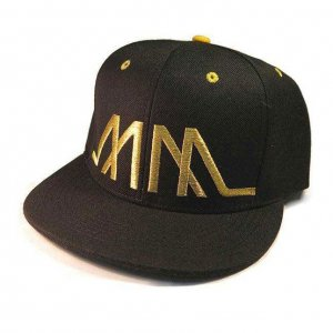 Marco Marco Embroidered MM Snapback Hat Gold