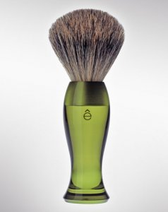 eShave Badger Hair Shaving Brush Fine Green 780003