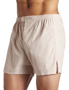 Jake Joseph Herman Trouser Loose Boxer Shorts Underwear Tan/White 1200
