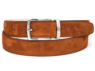Paul Parkman Belt Smoke Brown Suede B06-TABA