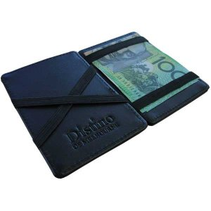 Distino Of Melbourne Leather Flip Wallet Black FWALLET