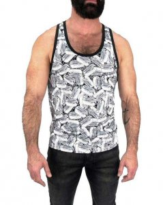 Nasty Pig Dog Tag Tank Top T Shirt 1362