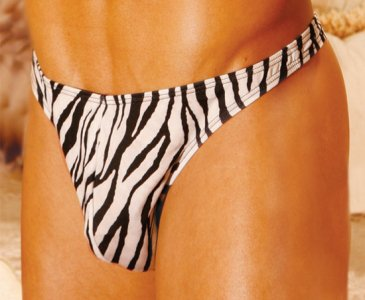 Elegant Moments 266 Zebra Thong Underwear