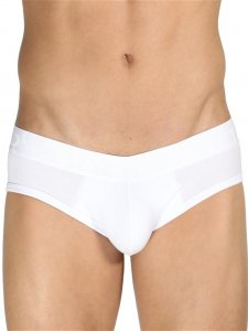 Rounderbum Low Rise Jock Brief Jock Strap Underwear White