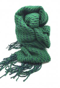 Spy Henry Lau Unisex Two Tone Knitted Scarf Green SP788AC75H...