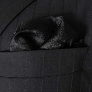 Distino Of Melbourne Check Pocket Square Handkerchief Black ...