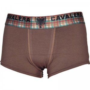 Cavalera Cotton/Elastane Trunk Boxer Brief Underwear Brown 430-02