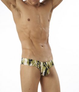 Cover Male Pouch Enhancing Cheeky Boxer Brief Underwear & Swimwear Camo 222