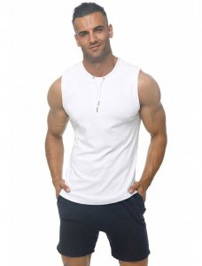 Marcuse Hero Muscle Top T Shirt White