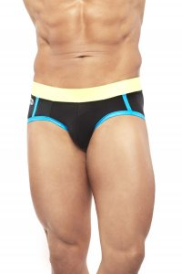 Narciso Bikini Swimwear SUNGA MAYA BLACK/YELLOW