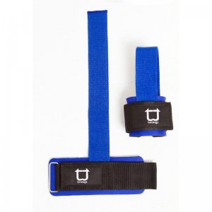 Twotags Weight Lifting Grip Straps Sportswear Blue