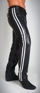 Whip It Leather Double Stripes Pants PN6