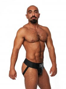 Mister B Leather Premium Jock Strap Underwear Black 231100