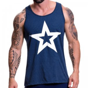 Jor TURIN Tank Top T Shirt Blue 0518