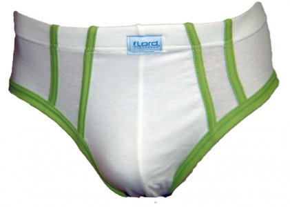 Lord Stripe Brief Underwear Green 8104