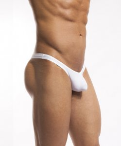 Cocksox Solid Thong Swimwear White Pointer CX22