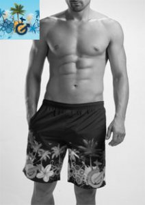 Geronimo Boardshorts Beachwear Light Blue 1201P4