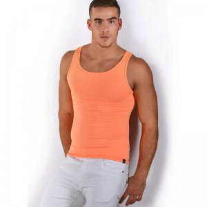 Roberto Lucca Solid Tank Top T Shirt Orange 80001-00181
