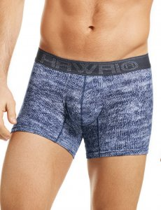 Hawai Knitted Look Boxer Brief Underwear Blue 41810