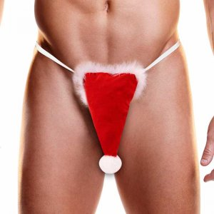 Hustler Fundies Christmas Santa Hat G String Underwear NU25