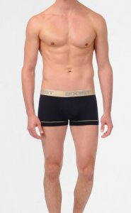 2(x)ist Gold No Show Boxer Brief Underwear Black 36233