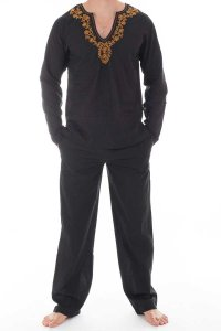L'Homme Invisible Kassapa Ensemble Pyjamas Loungewear Black ...