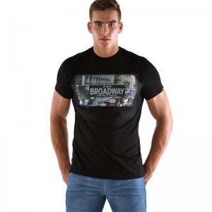 Roberto Lucca Broadway Short Sleeved T Shirt Black RL-219-00020
