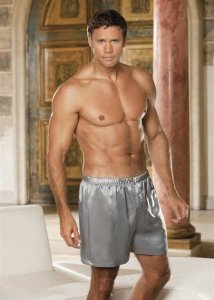 Gyz Soft Charmeuse Loose Boxer Shorts Underwear Silver 20059