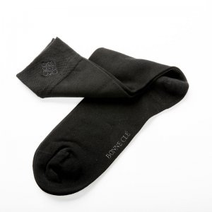 Bonne Cle Black & White Classic Socks Black