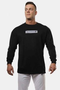 Jed North Energy Oversized Long Sleeved T Shirt Black JNTOP0...