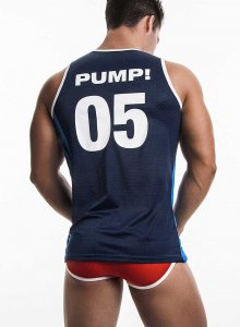 Pump! Titan 05 Tank Top T Shirt Blue/Navy 14011