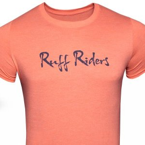 Ruff Riders Ruff Script Short Sleeved T Shirt Orange