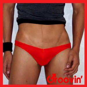 Groovin V-Cut Bikini Brief Underwear Red BV09