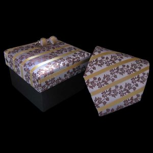 Distino Of Melbourne Oriental Gold Silk Necktie Box Set 13